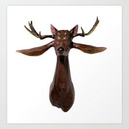 Trophy Head (Brown4Auditory6Ocular) Art Print