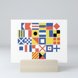 Nautical Flags Mini Art Print