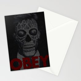They Live. Obey. Screenplay Print. Stationery Cards