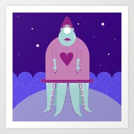 alien Ursula  Art Print