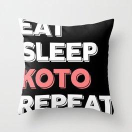 Koto strings musician concert Throw Pillow