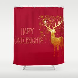 Happy Candlenight Shower Curtain