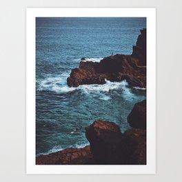 Cliffs By The Sea Art Print