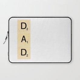DAD - Vertical Scrabble Tile Art and Accessories for Father's Day Laptop Sleeve