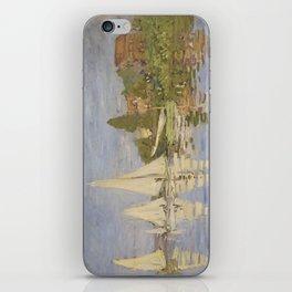 Claude Monet Regattas at Argenteuil iPhone Skin