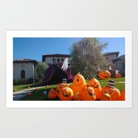 Britney Spears House Halloween Decoration Art Print