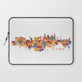 Las Vegas Watercolor Skyline Laptop Sleeve