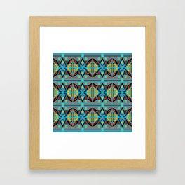 African Tribal Motif Pattern Framed Art Print