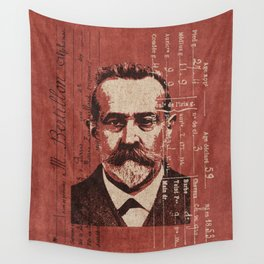 ROGUES GALLERY / Alphonse Bertillon (1853-1914) - Criminologist, France Wall Tapestry