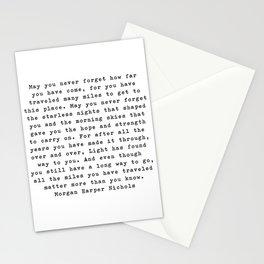 Typewriter Style Quote ((Morgan Harper Nichols)) Stationery Cards