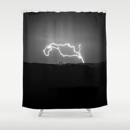 Lightning over Austin Shower Curtain