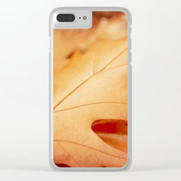 AFE Autumn Leaves, Nature Photography Clear iPhone Case