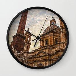 Rome, Piazza Navona Wall Clock