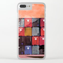 Colorful containers I Clear iPhone Case