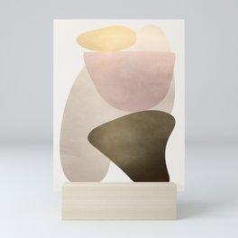 Shiny Abstact Shapes I Mini Art Print