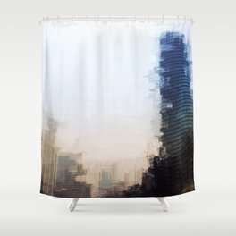 London Abstract Shower Curtain
