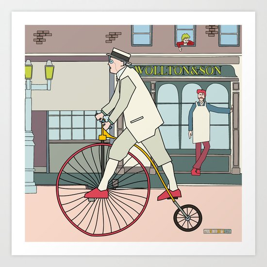 Steampunk Penny-Farthing Velocipedes Art Print
