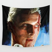 runner Wall Tapestries featuring Roy  (Blade Runner) by  JESUS TORRADO TORO (jarttoro)