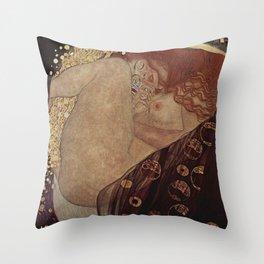 Danae  - Gustav Klimt Throw Pillow
