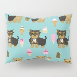 Yorkie ice cream gifts yorkshire terrier dog lover pet friendly patterns minty Pillow Sham