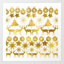 Gold Christmas 04 Art Print