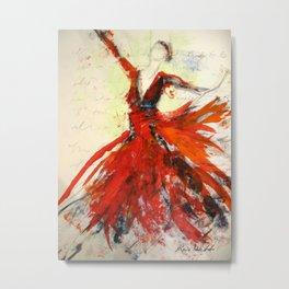 Red Flame Dress Metal Print
