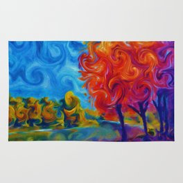 Abstract Landscape Art Painting Rug
