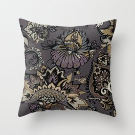 Lavelly paisley 2. Throw Pillow