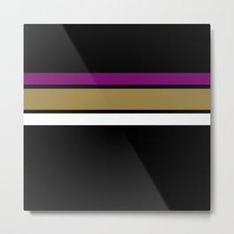 Team Colors 2...Purple, gold Metal Print