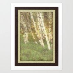 Fall Alders Art Print
