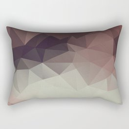Gray brown abstract polygonal pattern triangles . Rectangular Pillow