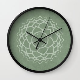 Third Eye - Sage Green Wall Clock
