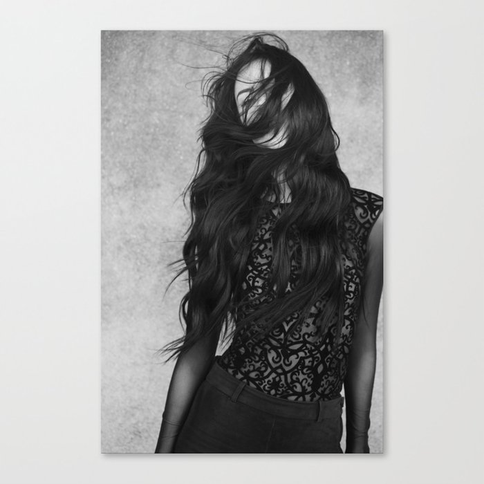 Black and white movement Canvas Print
