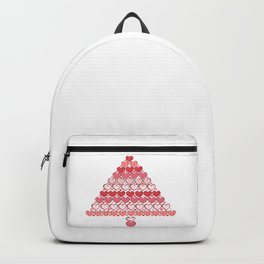 Made of Christmas tree vintage hearts. Happy new year and merry Christmas greeting card Backpack