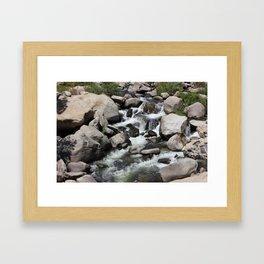 small waterfall, Kern River Framed Art Print