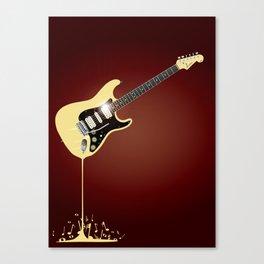 Fluid Guitar Canvas Print