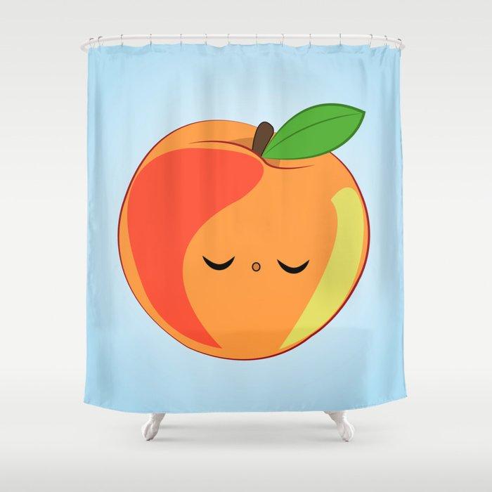 Sleepy Peach Shower Curtain