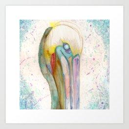 party pelican Art Print