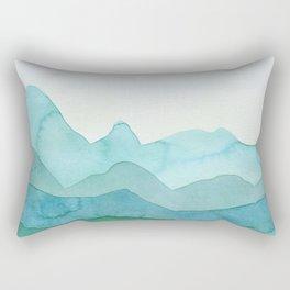 Green Mountains Rectangular Pillow