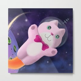 Captain Space Kitty Of The 24th Century Metal Print