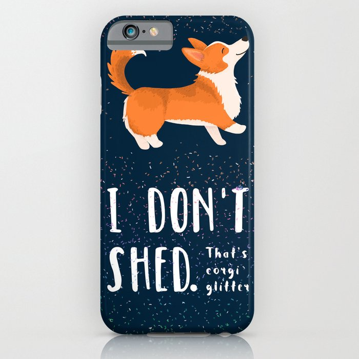 corgi glitter - pembroke welsh corgi iphone case