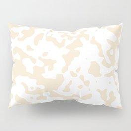 Spots - White and Champagne Orange Pillow Sham