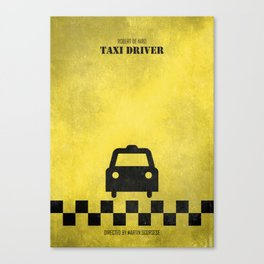 Taxi Driver - Minimal Canvas Print