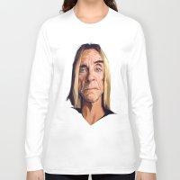 iggy Long Sleeve T-shirts featuring Mr. Iggy Pop by Viktor Miller Gausa