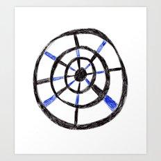 Biro Wheel Pattern Art Print