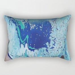 Overflowing Blue Abstract Rectangular Pillow