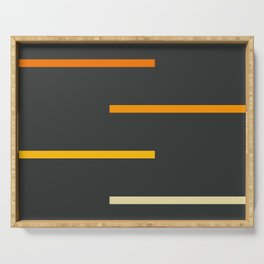 Abstract Minimal Retro Stripes Ashtanga Serving Tray