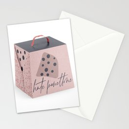 Hate Panettone Pink & Grey on White Stationery Cards