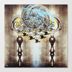 Current - above as below from side to side Canvas Print