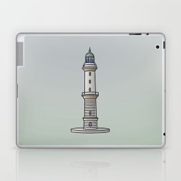 Lighthouse Warnemünde Rostock Laptop & iPad Skin